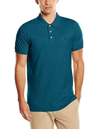 Tommy Hilfiger TJM Basic Polo S/S 1, Azul (Colonial Blue 407), L ...