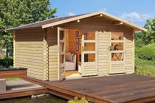 Karibu Woodfeeling Gartenhaus Radur 1 28 mm 2-Raum-Haus: Amazon.es: Jardín