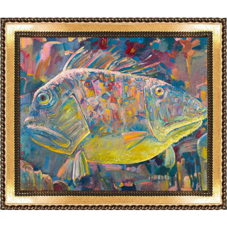 overstockArt ArtistBe Split of Personality Framed Canvas Print by Alexey Rubanov with Verona Gold Braid Frame