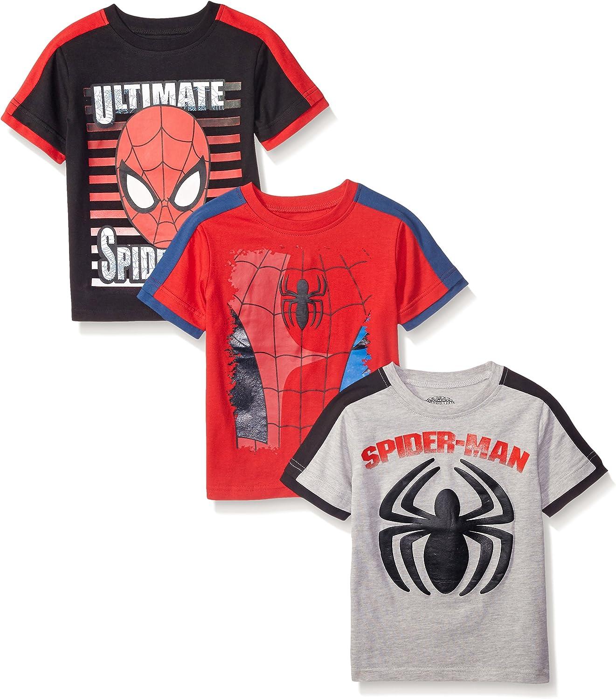 Marvel Boys' 3 Pack Spiderman T-Shirts