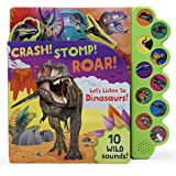 Crash! Stomp! Roar! Let's Listen To Dinosaurs! 10-Button Sound Book, Gifts For Little Dino Lovers