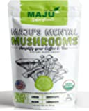 MAJU'S Mental Mushrooms: Organic Mushroom Extract Powder with Lions Mane, Cordyceps, Chaga, & Reishi, 100% USA Grown, Full Spectrum with Fruiting Bodies for Boost to Coffee & Tea (80 Grams)