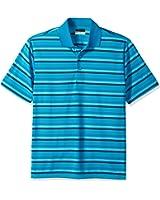 PGA TOUR Men's Short Sleeve Airflux Stripe Polo