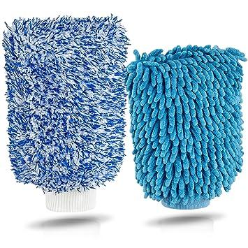 Premium Microfaser Autowaschhandschuh Set Autoschwamm Zum Auto