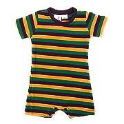 Mardi Gras Baby Romper Bodysuit Striped, Infant (6 Months)