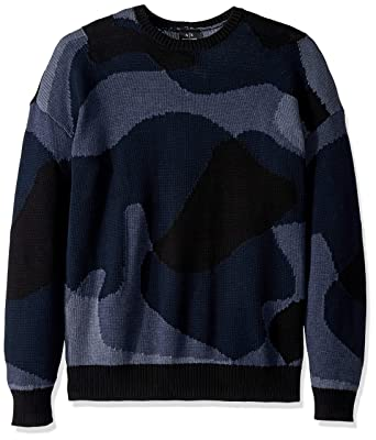 7473d4c3bccda Amazon.com: A|X Armani Exchange Men's Abstract Camo Print Pullover Sweater:  Clothing