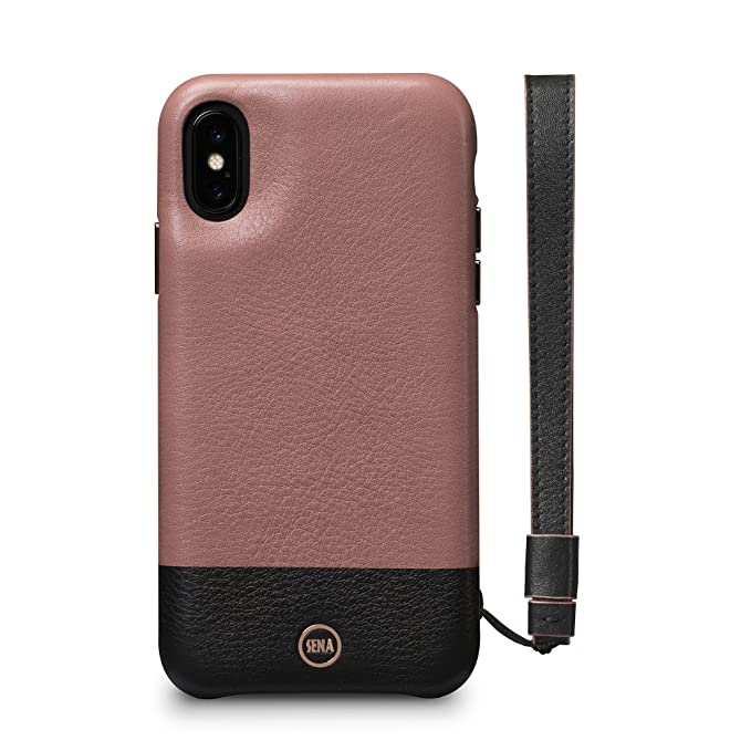 another chance 1f7b1 8a863 Sena Wristlet Case - Genuine Leather Lanyard Wristlet Case For Iphone X Xs  - Black/Meet