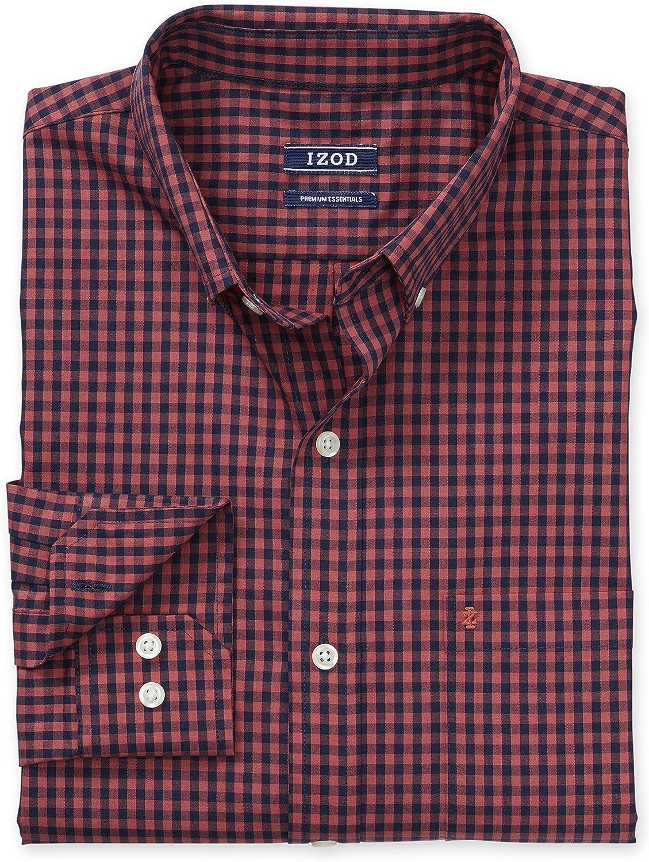 IZOD Men\'s Premium Performance Natural Stretch Gingham Long Sleeve Shirt (Regular and Slim Fit) A1VSHyJpi4L