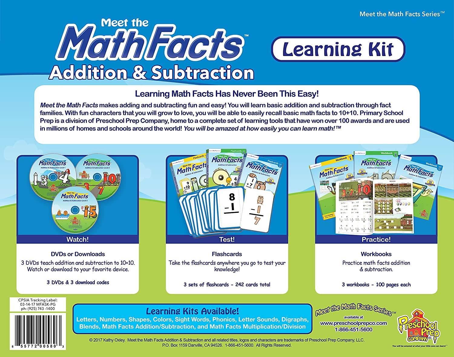 Amazon.com: Meet the Math Facts Addition & Subtraction Learning Kit ...