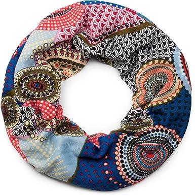 styleBREAKER snood rond tricoté avec imprimés de style ethnique africain,  écharpe, femme 01017042, 12186a12d96
