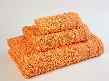 Natural Ana Juego de toallas baño, Algodón, Naranja, 30x50, 50x90 ...