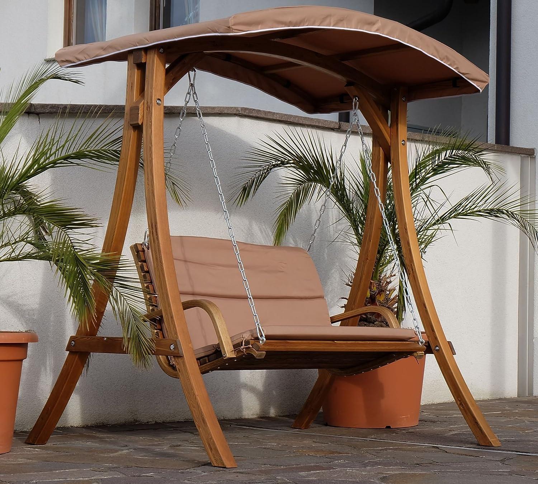 Diseño oscilación del pórtico del jardín columpio hamaca de alerce ...