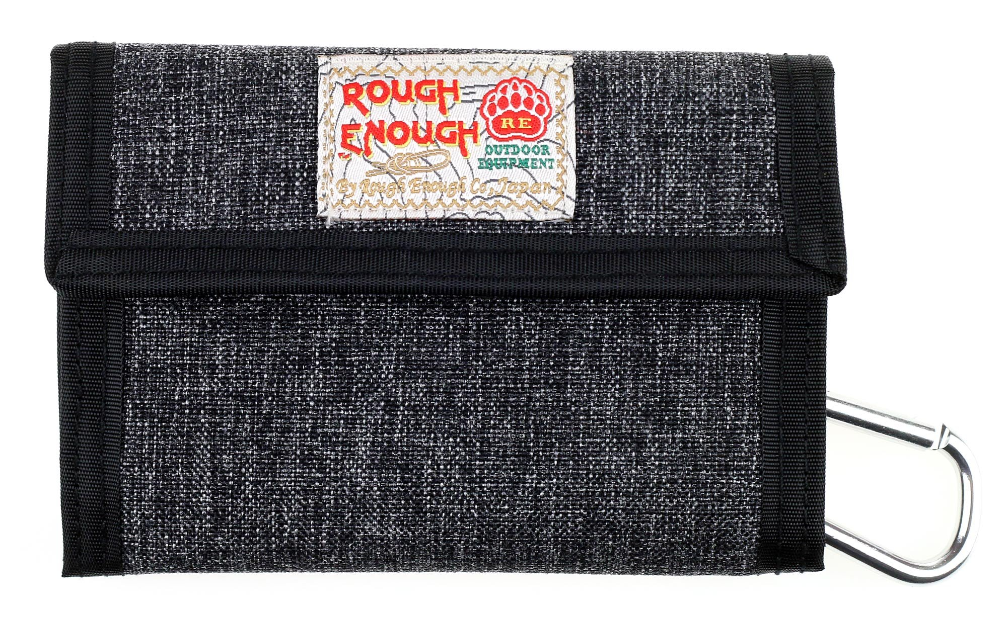 Rough Enough Premium Cotton Stone Washed Classic Basics Stylish Fancy Small Portable Trifold Coin Wallet Purse Holder Organizer Case with Zippers for Kids Boy Men Women Sports Outdoors Travel