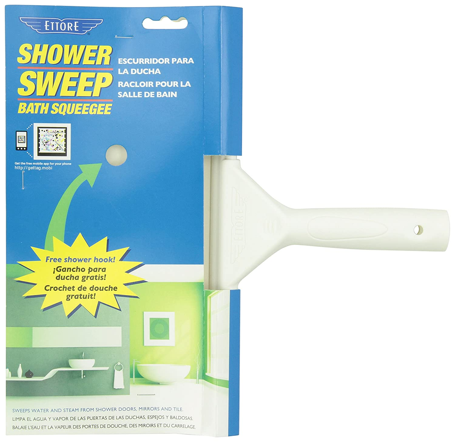 Amazon Com Ettore 14100 White Shower Sweep Squeegee 11 Inch Home