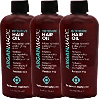 Intensive Natural Hair Oil with 100% Pure Argan Oil| Rich in Vitamin E and hair-building antioxidants for repairing damaged hair, restoring growth and volume, and giving you a brilliant shine - For women and men