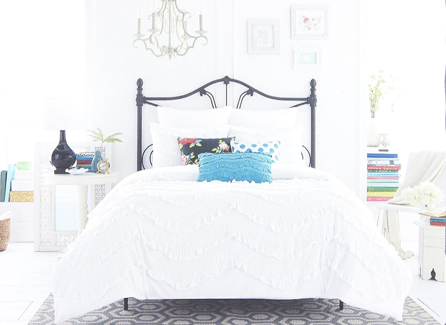 Anthology King Size Duvet Cover from the Lydia Bedding Collection in a White Color