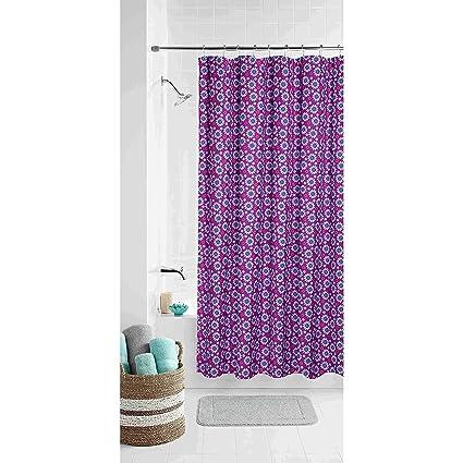 Amazon.com: Purple Daisy Shower Curtain: Home & Kitchen