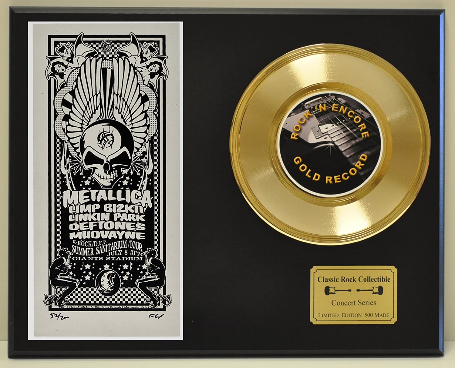 METALLICA Limited Edition Gold 45 Record Display. Only 500 made. Limited quanities. FREE US SHIPPING by  Classic Rock Collectibles