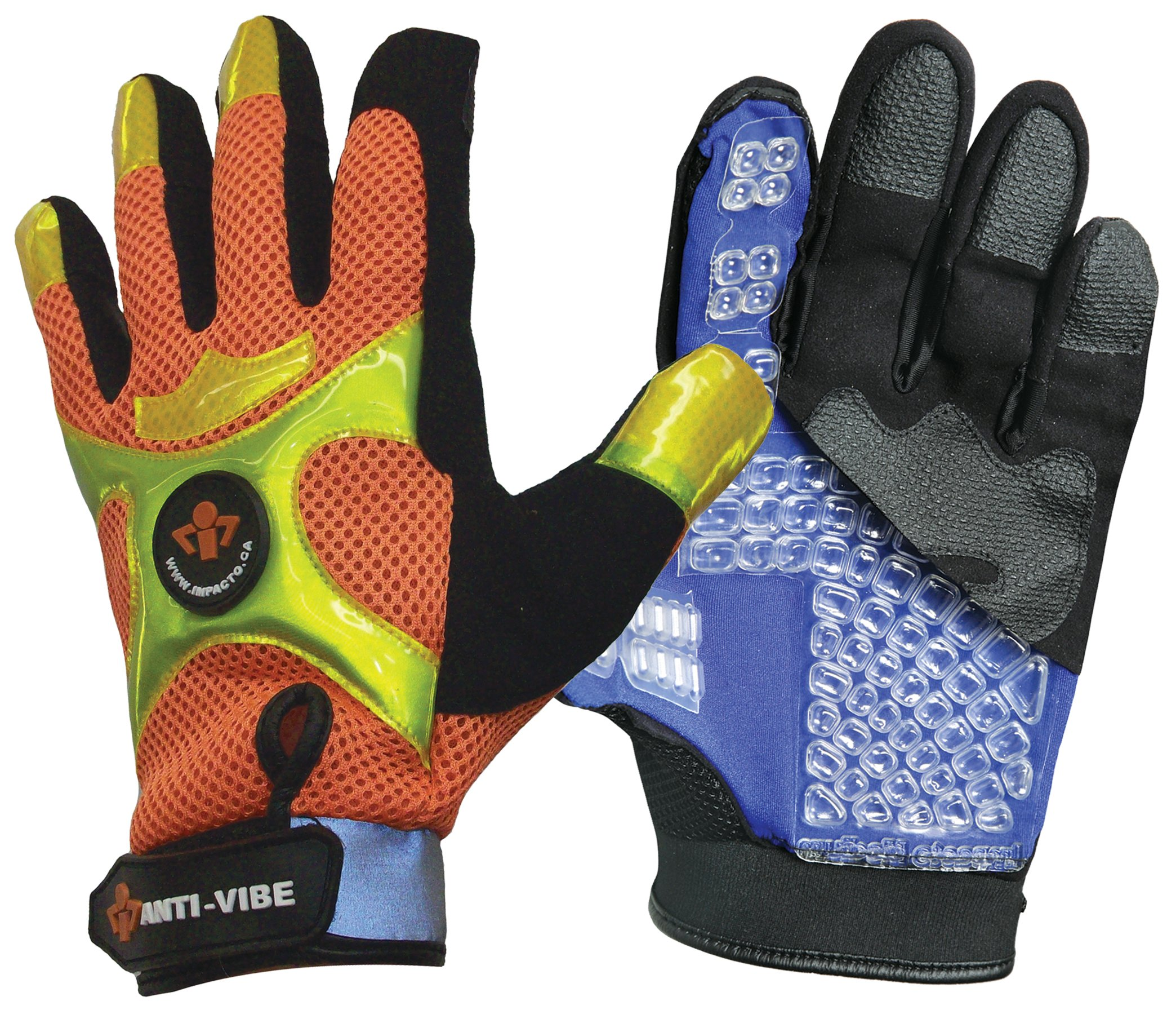 Impacto BGHIVIS30 Anti-Vibration High Visibility Mechanic's Air Glove, Orange/Black