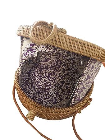 beste Auswahl von 2019 Original- Geschicktes Design Ata Tasche, Purple, Bali-Bag, Loop, Korbtasche rund, Bag ...