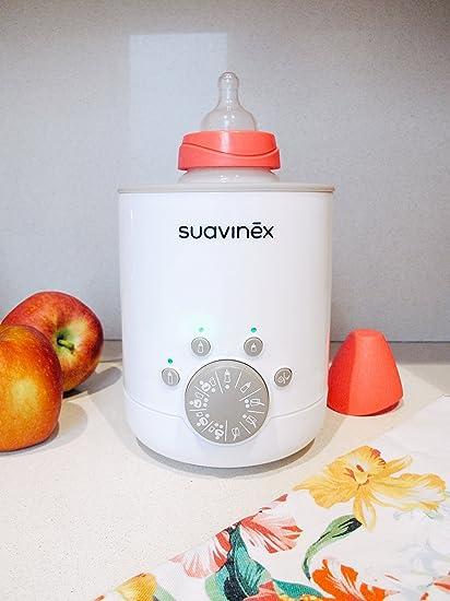 Suavinex - Calienta Biberones Link 3en1 (leche materna, Fórmula y Potitos). Calienta/descongela alimentos. sencillo de usar y fácil de Transportar