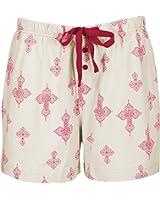 Leisureland Women's 100% Cotton Knit Pajama Lounge Boxer Shorts