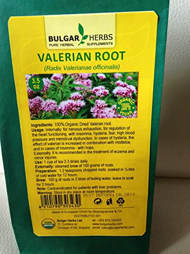 Organic Dried Valerian Root Radixvalerianae Officinalis 3.5 Oz.