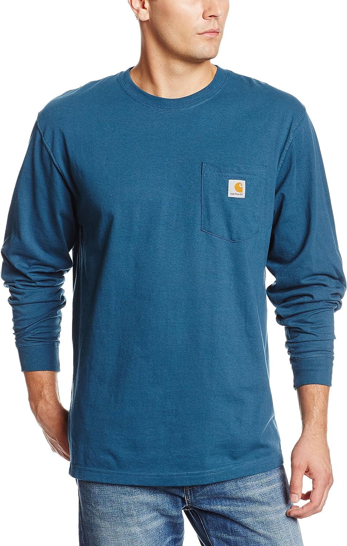 Carhartt Mens Tall Pocket Long-Sleeve Workwear T-Shirt K126