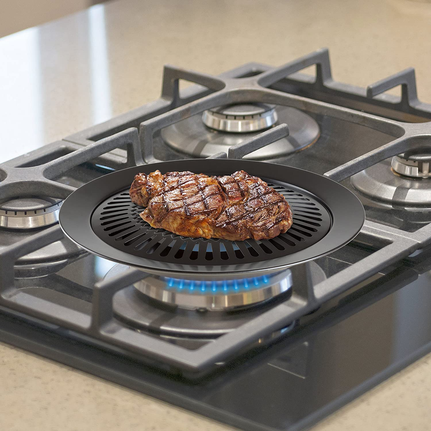 Amazon.com: Chef Buddy Smokeless Indoor Stove Top Grill: Kitchen ...