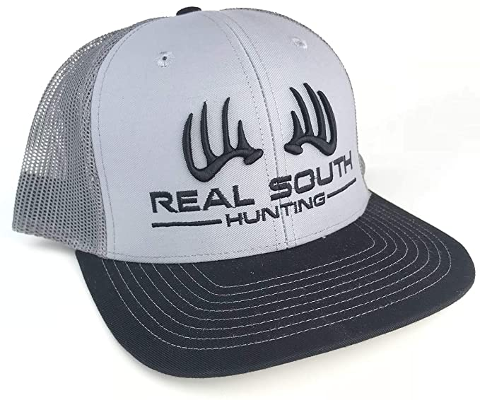 a575124125e Real South Hunting Richardson 112 Twill Mesh Snapback with 3D Logo (Grey