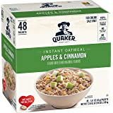 Quaker Instant Oatmeal, Apples and Cinnamon, 48 Count, 1.51 oz Packets (Packaging May Vary)
