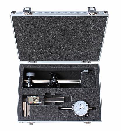 Medición ittel en Juego – Calibre digital de disco de freno – Reloj comparador – magnético