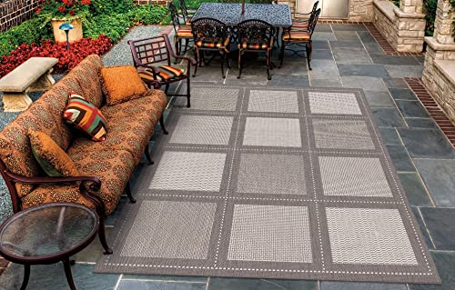 Couristan 1043 3012 Recife Summit Grey-White 2-Feet 3-Inch by 11-Feet 9-Inch Rug