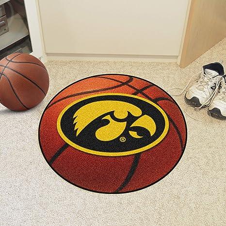FANMATS NCAA University of Iowa Hawkeyes Nylon Face Baseball Rug