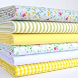 Always Knitting & Sewing - 6 FAT QUARTER BUNDLE, polycotton fabrics, 'Spring Greens', 20 x 22 inches