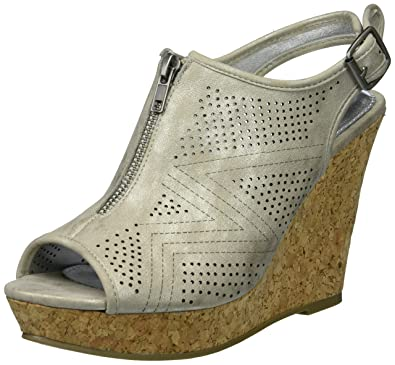 d5c0d9fb2c8 Rampage Women s Chamomile Espadrille Wedge Sandals with Bow Detail 6  Platinum