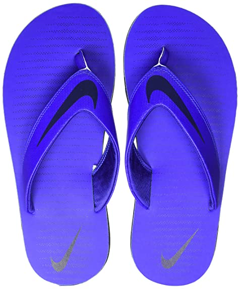 85f201c49 Nike Men s Chroma Thong 5 RacerBlue Obsidian Flip Flops Sandals-10 UK India