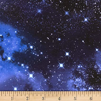 aab619df09e Image Unavailable. Image not available for. Color: Timeless Treasures Knit  Galaxy Fabric ...