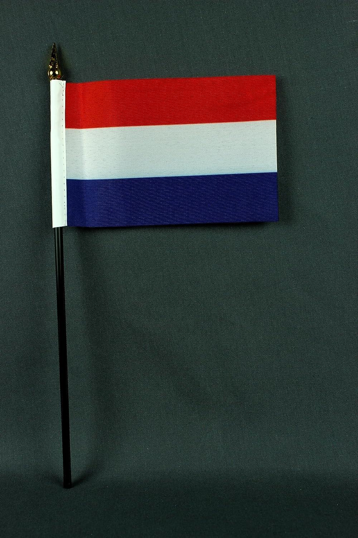 extrem standfest mit Tischflaggenst/änder aus Polyester schwarz Buddel-Bini Tischflagge Niederlande Holland 15x10 cm S