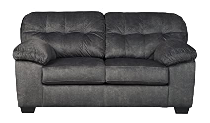 Awe Inspiring Ashley Furniture Signature Design Accrington Contemporary Upholstered Loveseat Granite Grey Beutiful Home Inspiration Cosmmahrainfo