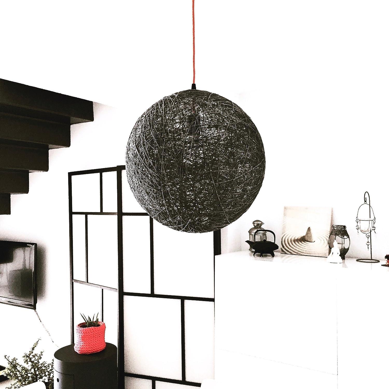 Lámpara colgante decorativa, de hilo de algodón, artesanal, hecha a mano SPHERE 30