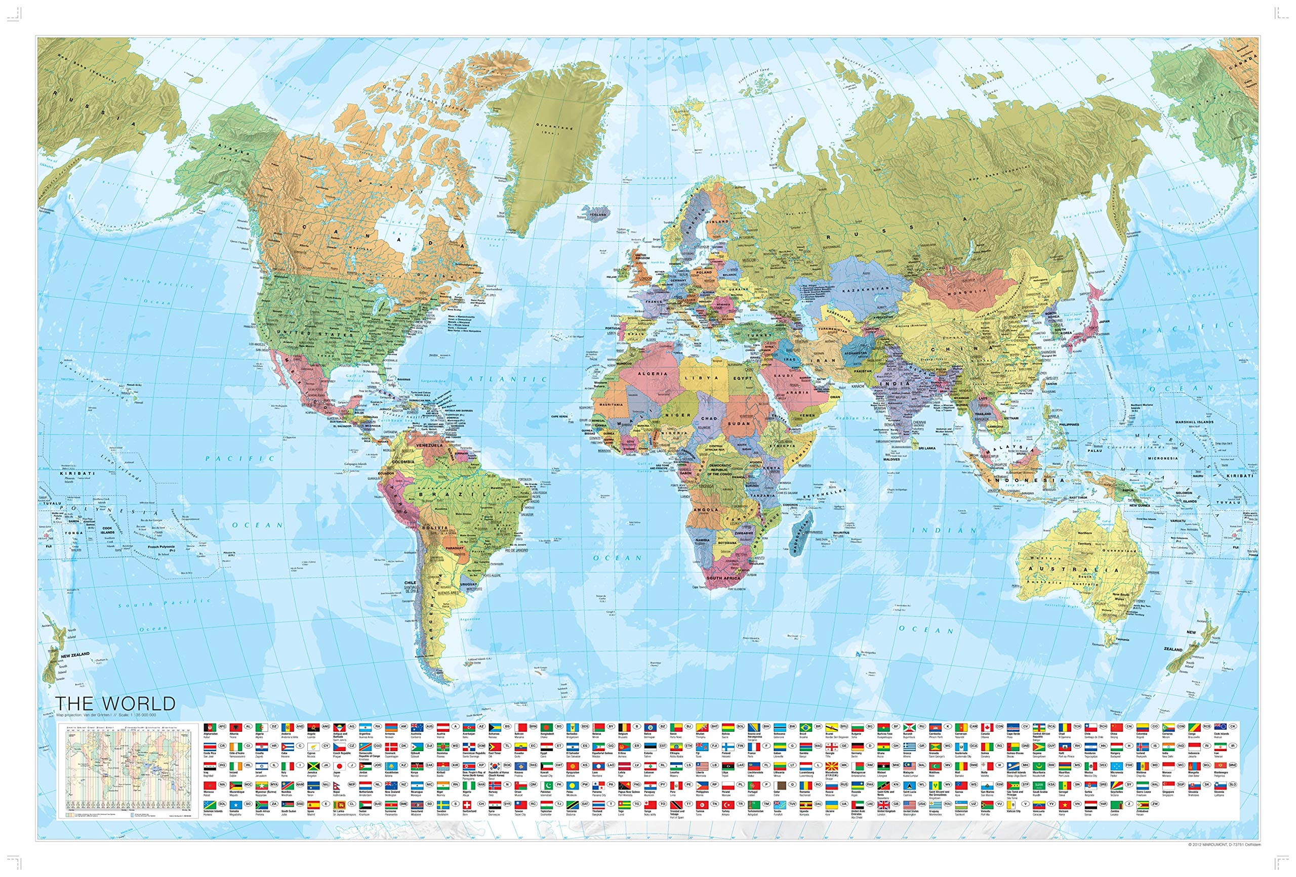 Whole Map Of The World.Marco Polo Laminated World Wall Map Marco Polo Maps