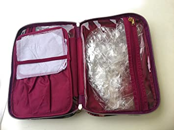 Amazon Com Sonia Kashuk Cosmetic Bag Always Organized Dark Floral
