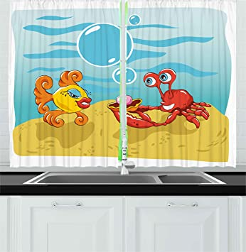Amazon.com: Engagement Party Decorations Kitchen Curtains by ...