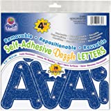 """Pacon 4"""" Self-Adhesive Uppercase Letters, 78-Count, Blue Dazzle (51682)"""