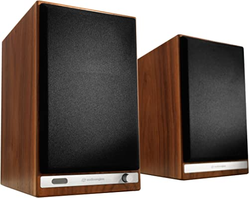 Audioengine HD6 150W Wireless Powered Bookshelf Speakers, Bluetooth aptX HD, 24-Bit DAC Analog Amplifier Walnut