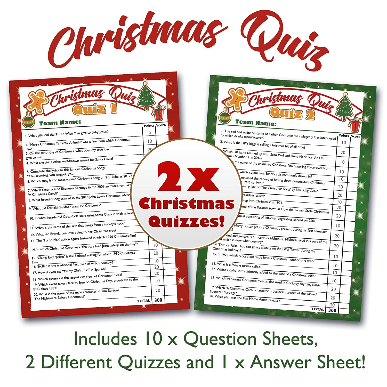 Bigmouth Christmas Quiz Game - Ultimate Xmas Party Trivia Quiz Set ...
