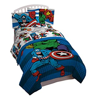 Jay Franco Avengers Comics Good Guys 5 Piece Full Bed Set (Offical Marvel Product)
