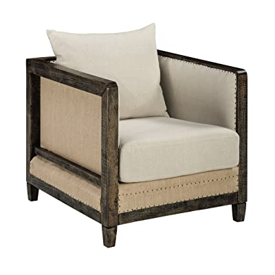 Amazon.com: Tommy Hilfiger Warner Wingback Chair, Two-tone