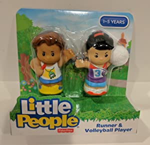 Little People Fisher Price Runner and Volleyball Player